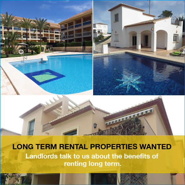 Long Term Rentals Wanted - Javea
